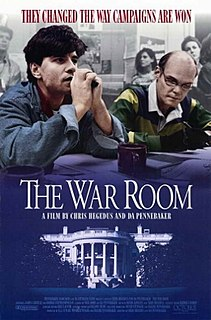 <i>The War Room</i> 1993 American film directed by *Chris Hegedus *D. A. Pennebaker