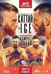 UFC on ESPN: Kattar vs. Ige Fight Poster