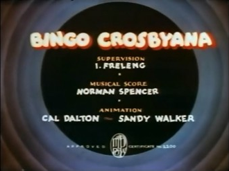 Bingo Crosbyana - The title card of Bingo Crosbyana.