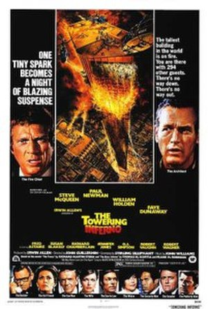 The Towering Inferno - Theatrical release poster by John Berkey