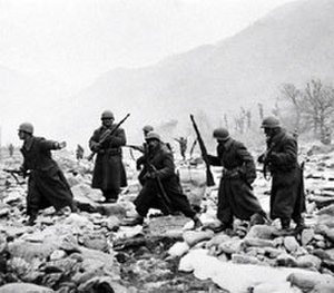 Battle of Wawon - Members of the Turkish Brigade in action.