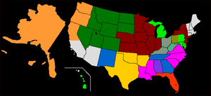 Governing Body Commission - An example of zonal regions for North America