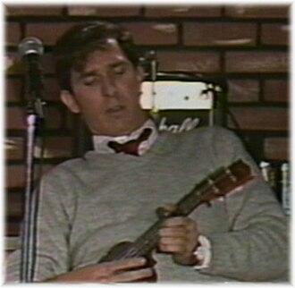 Wayne Federman - Federman with electric ukulele, circa 1987