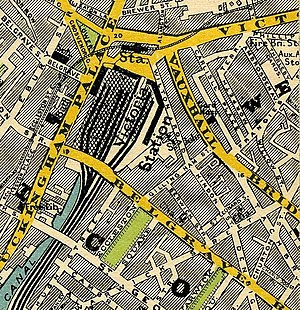 London Victoria station - Victoria Station in 1897, showing the separate Brighton (left) and Chatham (right) stations.