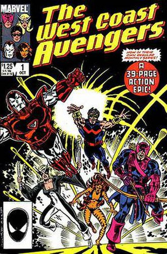 West Coast Avengers - Image: West Coast Avengers vol. 2, no. 1 (cover art)