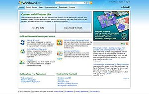 Live Connect - Windows Live Developer Center, which contains libraries, code samples, documentations, downloads, and forums for Live Connect