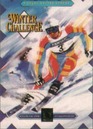 Winter Challenge - Packaging for the Mega Drive/Genesis version.