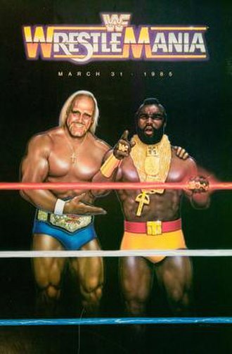 WrestleMania I - Promotional poster featuring Hulk Hogan and Mr. T