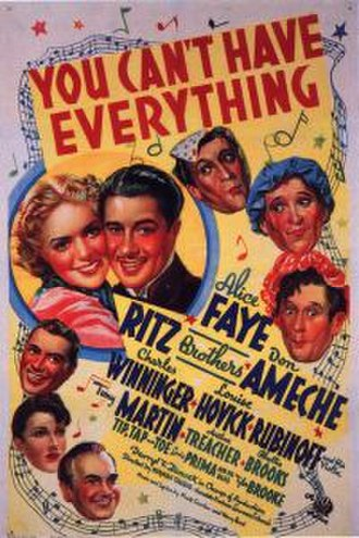 You Can't Have Everything - Theatrical Poster