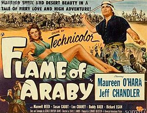 Flame of Araby - Film poster by Reynold Brown