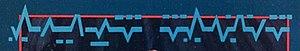 Alien Nation (film) - Tenctonese typography resembling a rhythmic heartbeat pattern.
