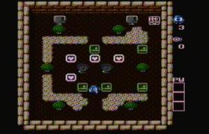 Adventures of Lolo 2 - Gameplay screenshot.