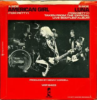 American Girl (Tom Petty and the Heartbreakers song) 1977 song by Tom Petty