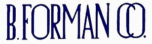 B. Forman Co. - Image: B. Forman Co. logo