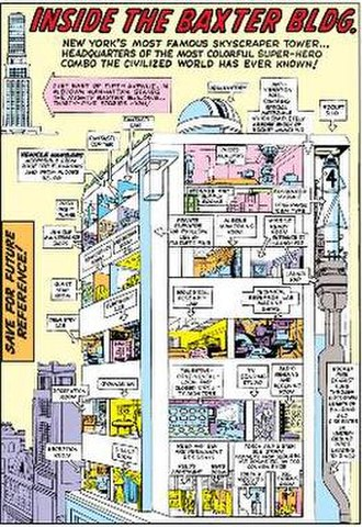 Baxter Building - The original Baxter Building Art by Jack Kirby