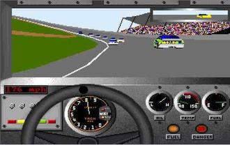 Bill Elliott's NASCAR Challenge - In-game screenshot of PC version