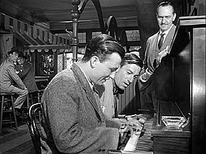 Carmichael and Harold Russell play a duet as F...