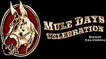 The logo of Bishop Mule Days
