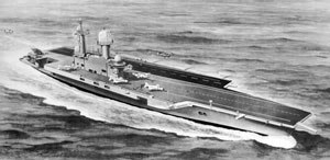 CVA-01 - Official Artists's impression of the proposed aircraft carrier.