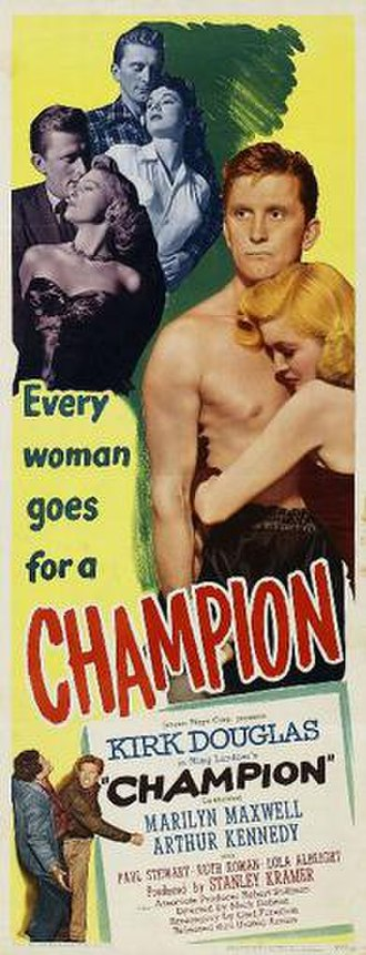 Champion (1949 film) - Theatrical release poster