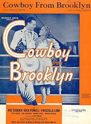 Cowboy from Brooklyn - Warner's promotional poster