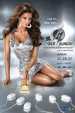 Cyber Sunday (2007) - Promotional poster featuring Candice Michelle