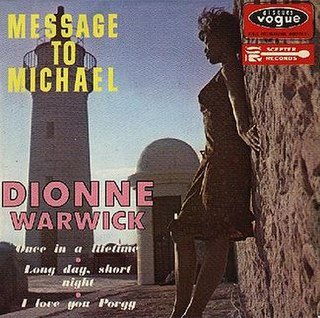 Message to Michael 1966 single by Dionne Warwick