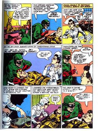 Diana Prince - Wonder Woman encounters Dr. Poison while caring for Maj. Steve Trevor as Nurse Diana Prince.