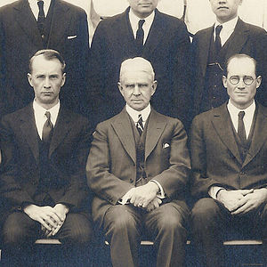 Luther Emmett Holt - Dr. L. E. Holt (center) while lecturing at Peking Union Medical College, 1923.