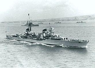 Operation Harpoon (1942) - Light cruiser Eugenio di Savoia, Admiral Da Zara's flagship