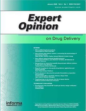 Expert Opinion on Drug Delivery - Image: Expert Opinion on Drug Delivery