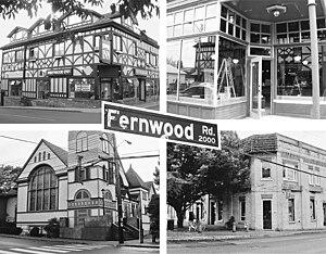 Fernwood, Greater Victoria - Fernwood Square's four corners