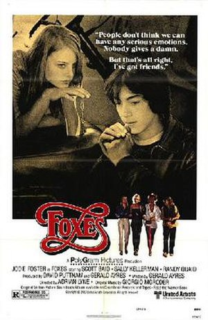 Foxes (film) - Theatrical release poster