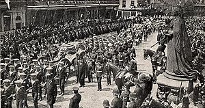 State funerals in the United Kingdom - The procession during the state funeral of Edward VII