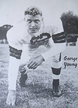 George Young (American football) - Young while playing for the Cleveland Browns