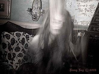 Lung Leg - Lung Leg in a ghastly self-portrait (2005) titled Ghastly Self-Portrait.