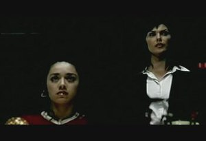 Global Frequency - Miranda Zero (Michelle Forbes, right) and Aleph (Aimee Garcia, left) from the Global Frequency pilot