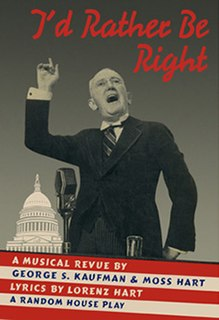 Musical by George S. Kaufman and Moss Hart