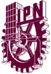 "A cogwheel. On its right, the stylized form of a building. On its center, a scale in balance and a laboratory flask surrounded by a snake. On its top, the acronym ""IPN""."