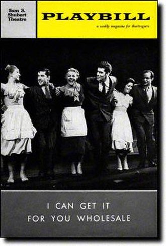 I Can Get It for You Wholesale - Broadway Opening Playbill