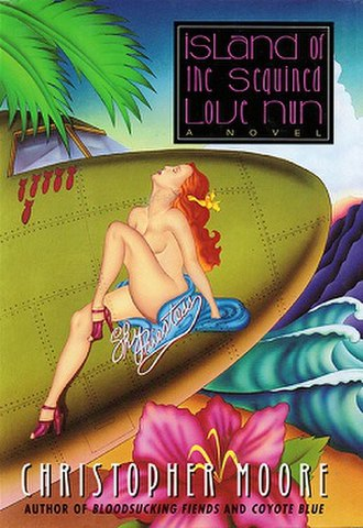 Island of the Sequined Love Nun - American paperback cover (Perennial)