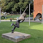 Jason Gillespie statue, Adelaide Oval, 22 August 2020.jpg