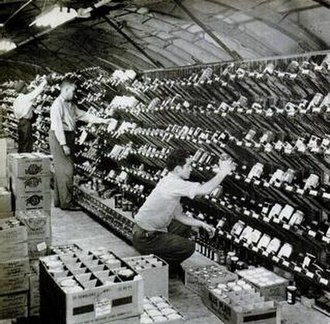 Keedoozle - Clarence Saunders' first self-service Keedoozle grocery store supply room