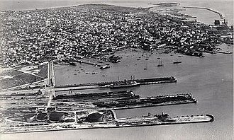 Trumbo Point - The FEC yard and station on Trumbo Point in Key West circa 1930.