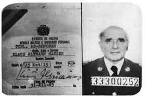 Klaus Barbie - Barbie's Bolivian secret police ID card