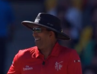 Kumar Dharmasena - Kumar Dharmasena umpiring in the 2015 Cricket World Cup