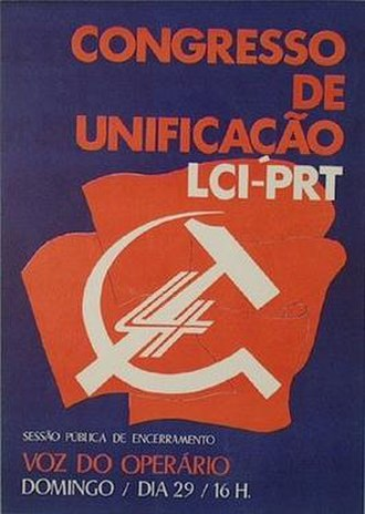 Revolutionary Socialist Party (Portugal) - Poster announcing the founding congress of PSR
