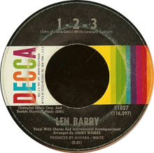 1-2-3 (Len Barry song) - Wikipedia