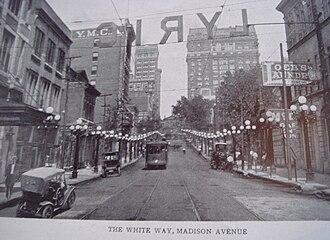 University of Memphis, School of Law campus - Image: Madison avenue 1920