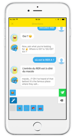 Memrise - Chatbot on the Memrise app for iPhone.
